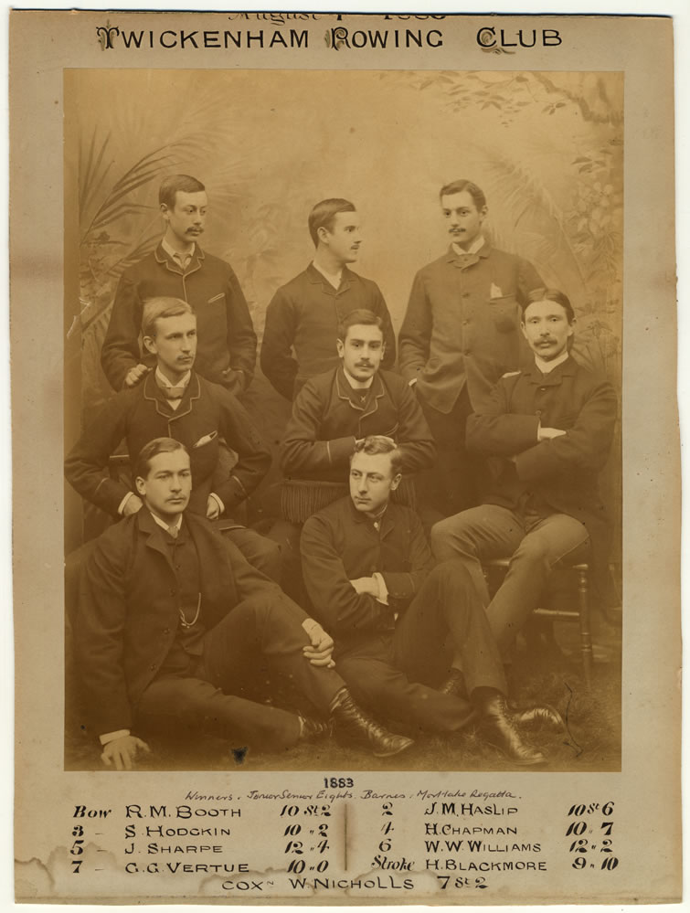 Twickenham Rowing Club Eight 1883